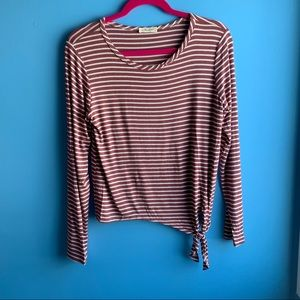 Red Striped Long Sleeve Olivia Rae Top